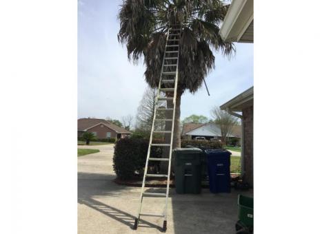 24' aluminum extension ladder